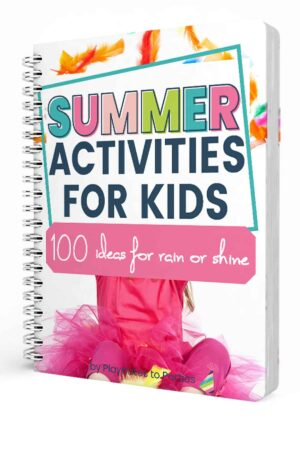 mockup of cover page of summer activities for kids checklists