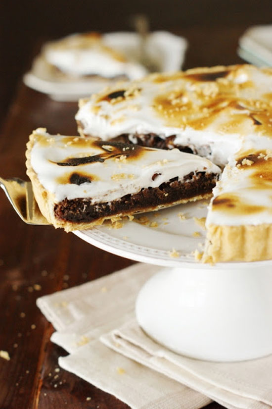 Fudgy S'mores Pie