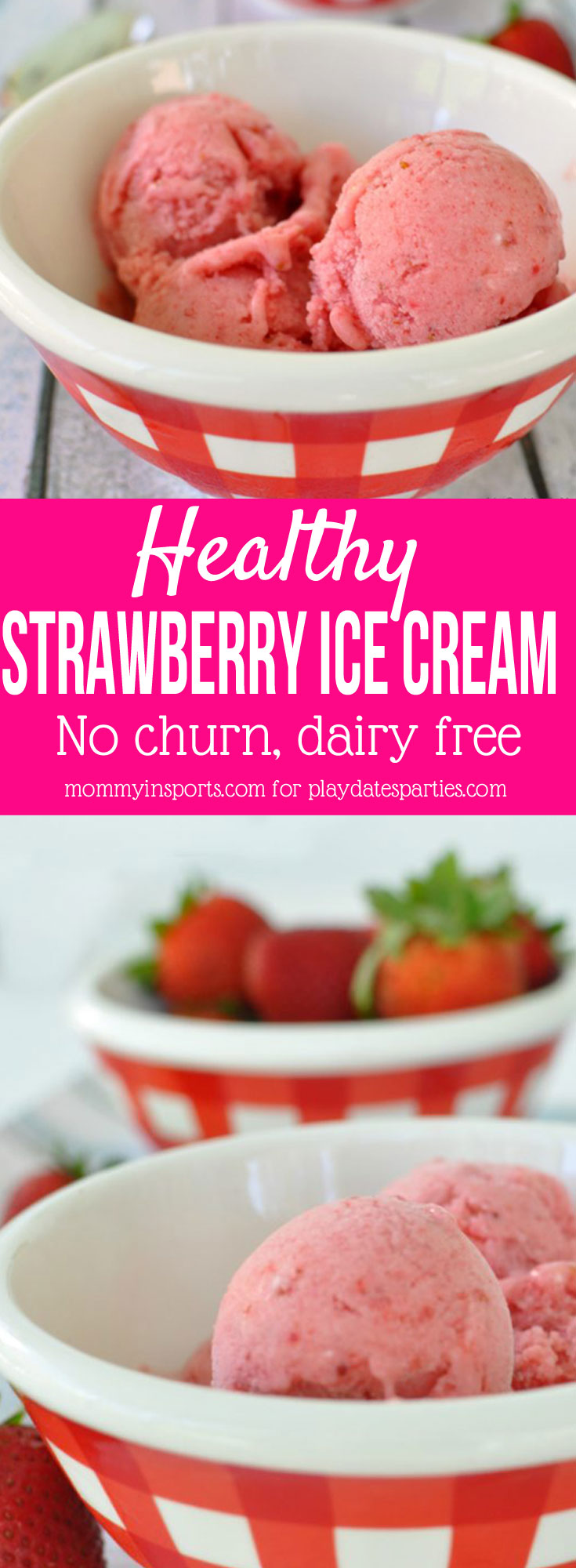 Looking for a simple, delicious, dairy-free, and healthy strawberry ice cream recipe? Combine these 4 ingredients and you'll be eating a fast frozen treat! Perfect for paleo and whole food diets.