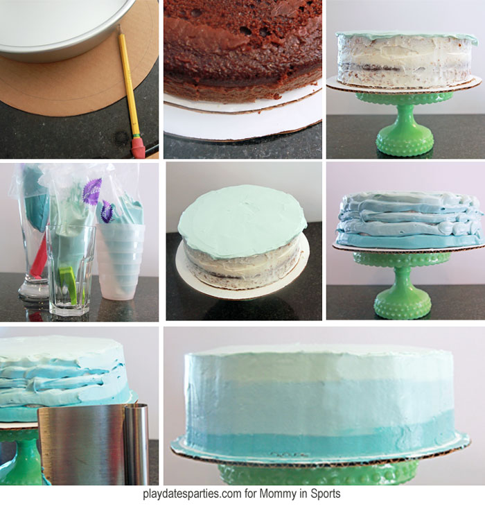 Making an ombre frosted cake is easier than you think! Follow these easy steps to get a gorgeous ombre effect every time!