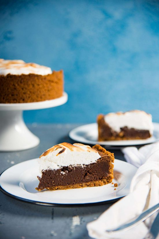 Butterscotch Fudge S'mores Brownie Pie