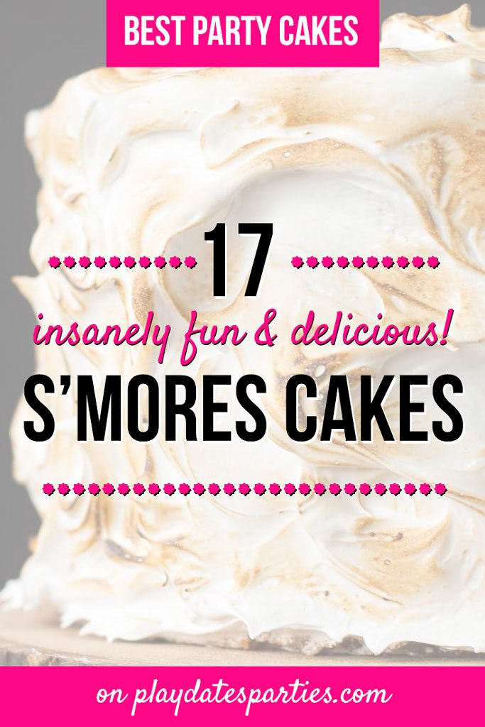 These s'mores cakes and cupcakes are such a fun way to top off a kids summer birthday party! With 17 simple recipes to choose from, there's no campfire required...even for that amazing toasted marshmallow frosting. Graham cracker dessert recipes never looked so good. #smores #cakes #dessertrecipes