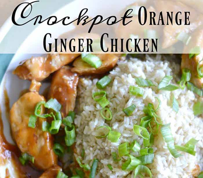 Faith Filled Food for Moms Orange Ginger Chicken