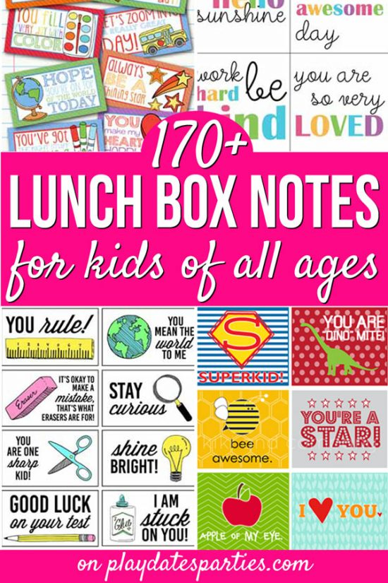 Free Printable Lunch Box Notes Perfect for the New School Year