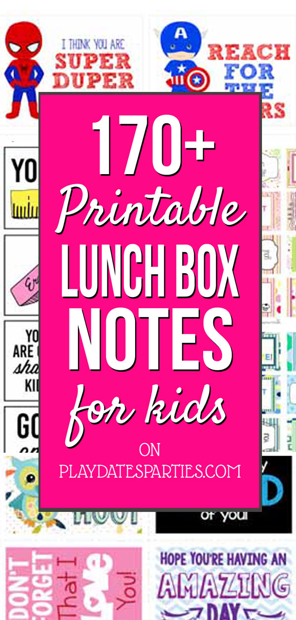 Make a stack of printable lunch box notes to keep on hand this school year, and you'll love the smiles you get. Choose from free pre-written or blank notes, notes for kindergarten, jokes, or even lunch box notes for kids needing a bit of encouragement. #backtoschool #ilunchbox #schoollunch #lunchboxnotes #pdpdecorates #printable #freeprintable