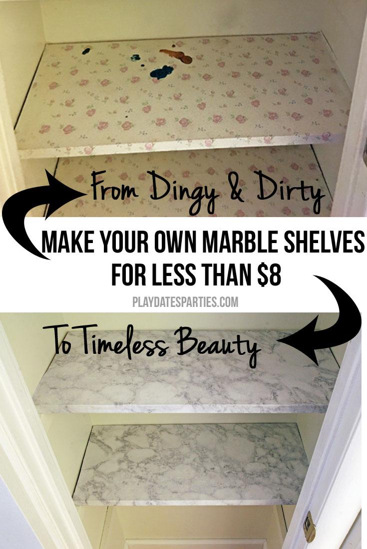 Design Hack: Make Your Own Marble Shelves for $8!