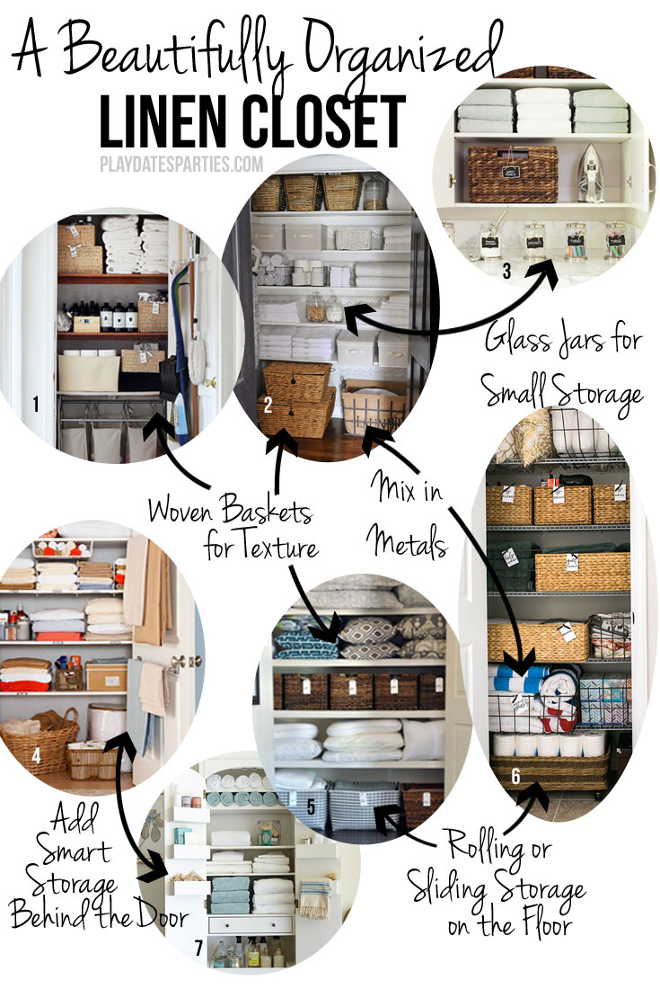 Inspiration for Clean, Bright, and Beautiful Linen Storage (ORC Week 1)