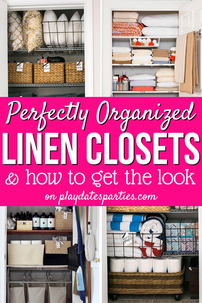 Linen Closet Organization Ideas: 7 Perfectly organized linen closets and how to get the look for yourself.