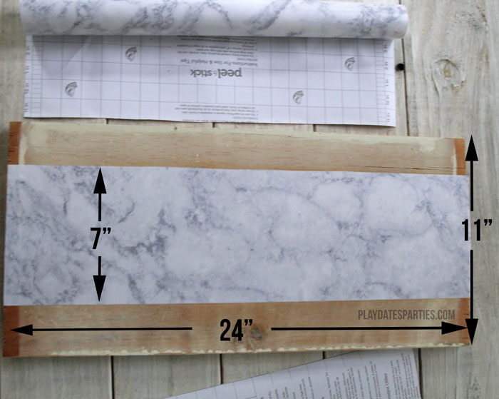 Measuring your shelves properly ensures that the contact paper will cover the entire surface.