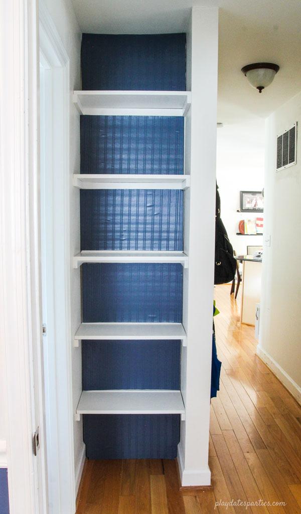 How To Diy A Reversible Bookshelf Backing