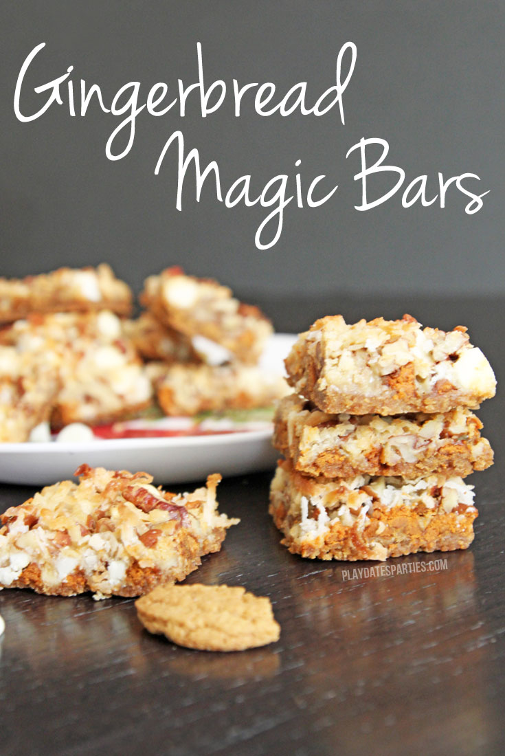 Full of the warm winter spices, gingerbread magic bars are a delicious holiday twist on the classic seven layer bars recipe.