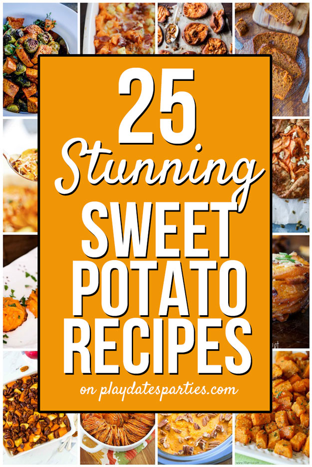 Of all the Thanksgiving side dishes that we serve, sweet potatoes are my favorite vegetable. But sometimes I get tired of recipes for candied yams. This is the ultimate list of unique sweet potato dishes recipes for a crowd - no marshmallows involved. Whether you want traditional casseroles or easy crowd pleasers, this is the list for you! #SweetPotato #Holidays #ThanksgivingDinner #HolidayRecipes #TurkeyDay #Recipe #EasyHolidayRecipes #DinnerRecipes