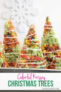 Colorful Krispy Christmas Trees