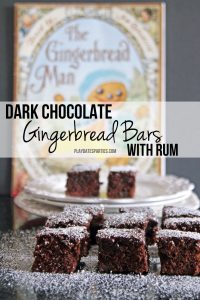 Dark Chocolate Gingerbread Bars with Rum