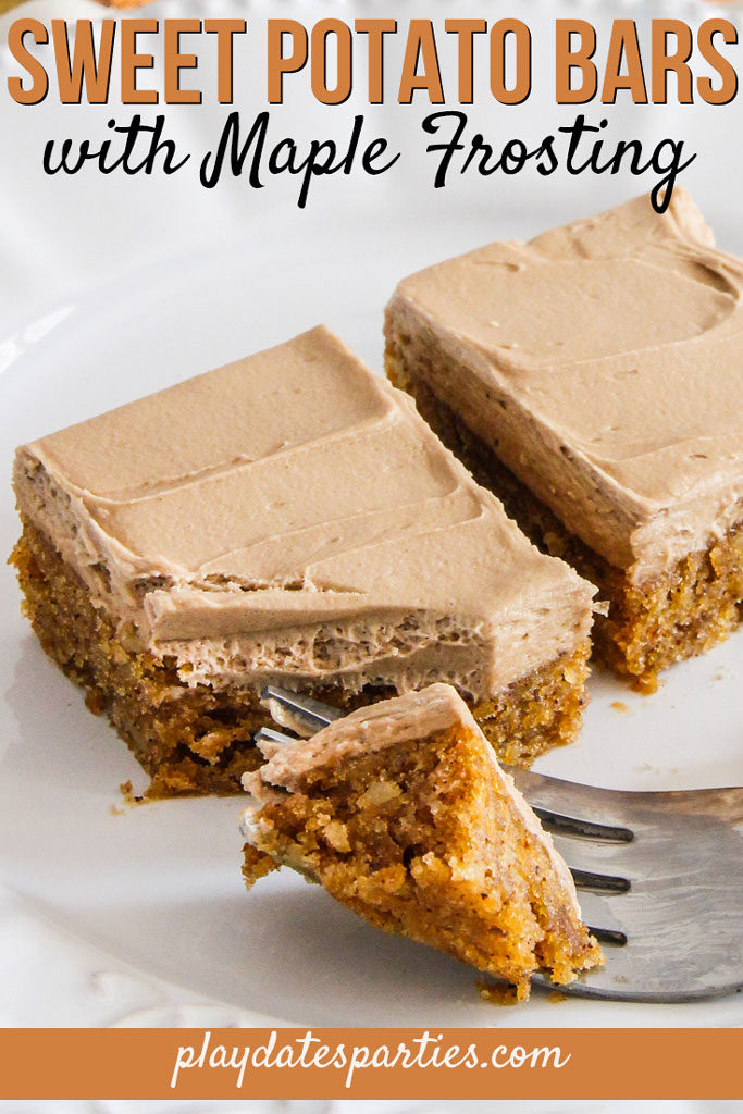 Sweet Potato Bars with Maple Frosting