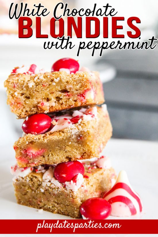 White Chocolate Blondies with Peppermint