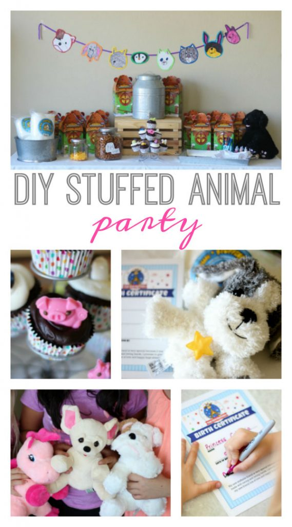 DIY Stuffed Animal Party | winter birthday party ideas