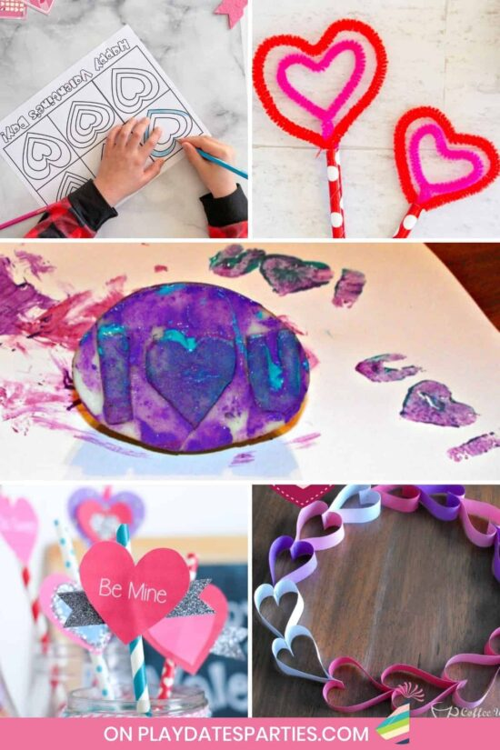 From simple DIY paper projects, to stunning art, you're going to love these Valentine's Day crafts for kids! Toddlers and preschoolers will especially love the easy and creative ideas that use simple materials like construction paper and paint. Enjoy an afternoon with your kids and end up with awesome gifts for mom, for dad, or for grandparents! #ValentinesDay #crafts #kids