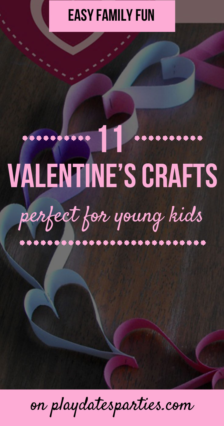 Cold winter days inside call for making lots of kids crafts! It's a good thing there are so many easy and fun Valentine's Day crafts for kids, too. Here are 11 simple projects that are great both for toddlers and big kids. With these ideas, and some paper and paint you can have fun day together and end up with cute homemade art gifts for parents and for grandparents. #ValentinesDay #kidscrafts