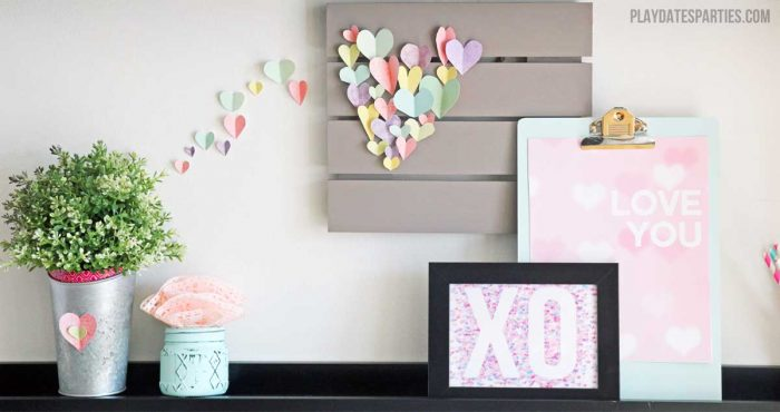This Valentine's Day decor craft is the perfect way to turn bonding time with your kids into a home decor craft that will make everyone happy.