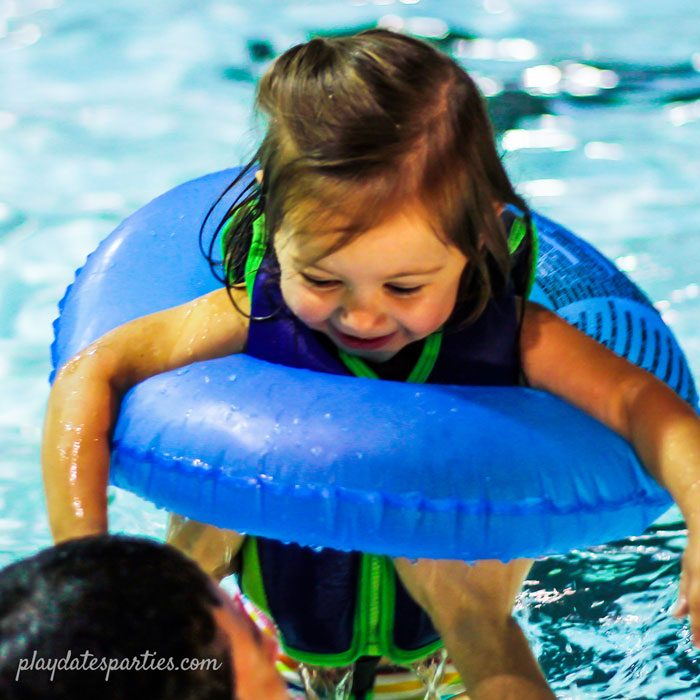 winter birthday party ideas - host an indoor pool party!