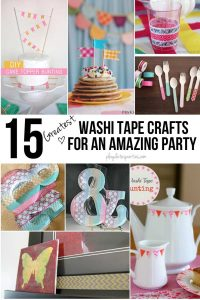 The 15 Greatest Washi Tape Crafts for an Amazing Party