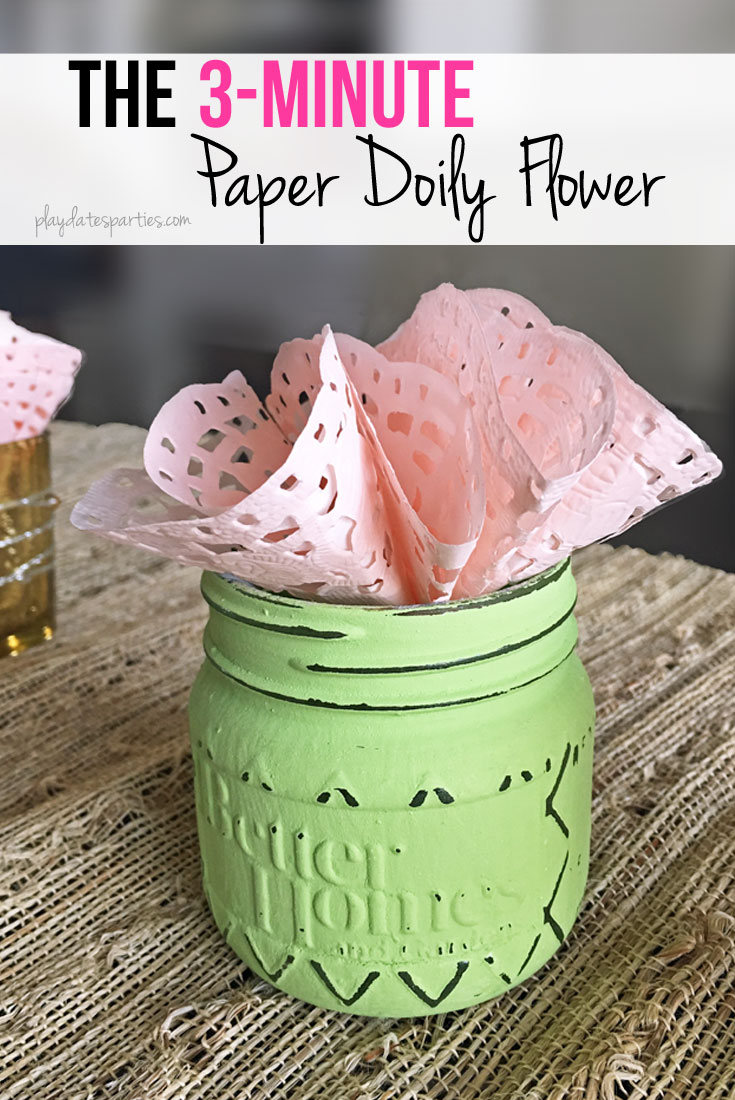 3 Minute Paper Doily Flowers Fast Frugal And Fabulous
