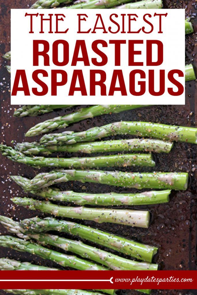 Want to make an easy and healthy side dish for your dinner tonight? This oven roasted asparagus is inspired by a caterer's recipe and only uses four ingredients! Plus, it's vegan, vegetarian, and paleo! #vegetarian #asparagus #dinnerrecipes #lemon #easyrecipes #sidedishes #veganrecipes