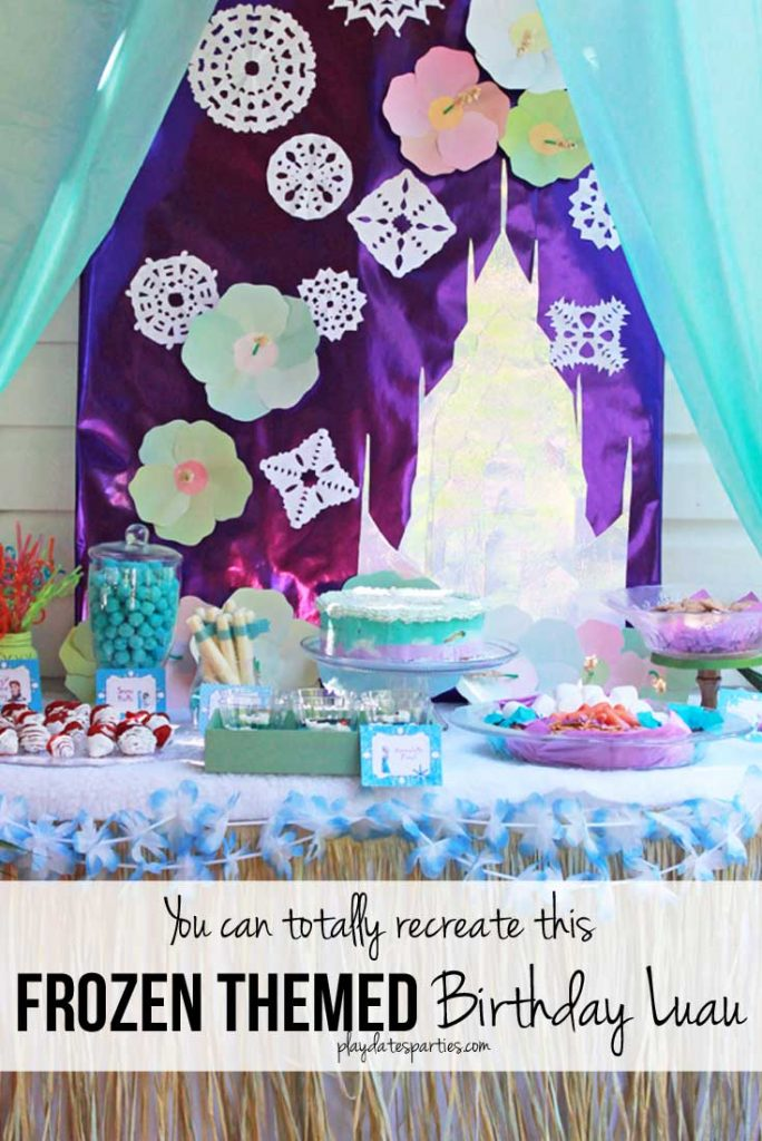 Frozen Themed Birthday Luau