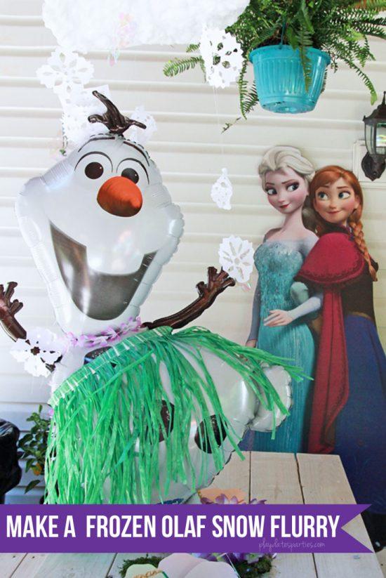 How to Make an Olaf Snow Flurry