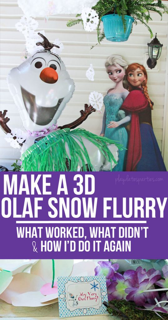 Learn how to make your very own Frozen-Inspired Olaf Snow Flurry, including what worked, what didn't, and ideas for making it even better!