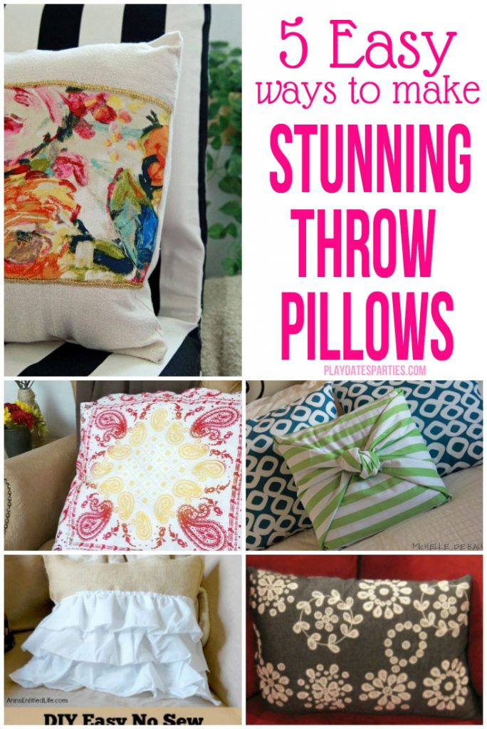 40 Easy Ways To Make Stunning Throw Pillows Magnificent No Sew Decorative Pillows