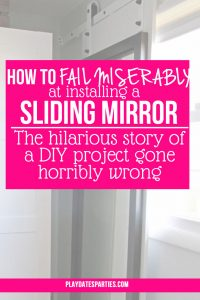 How to Fail Miserably At Installing a Sliding Mirror