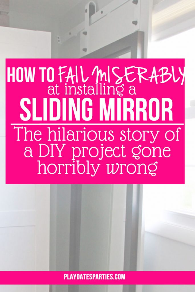 Who knew that installing a sliding mirror could be so difficult? Find out all the hilarious blunders it took to get just one sliding mirror in place.