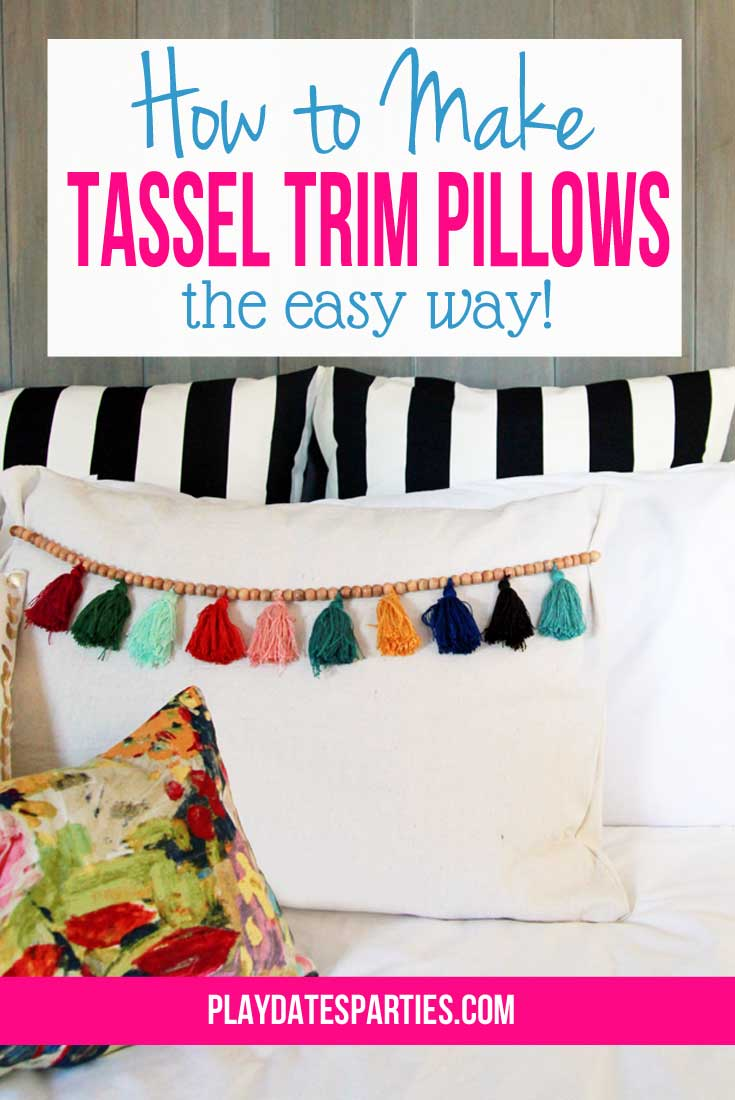 How to Make Tassel Trim Pillows...the Easy Way
