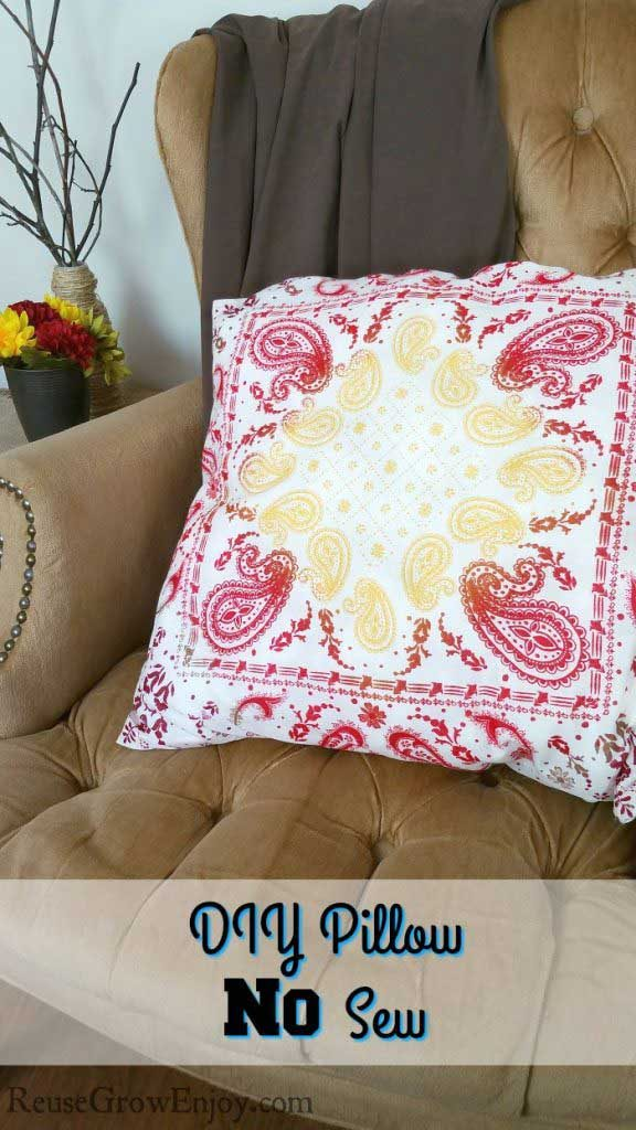 No Sew Iron Together Pillow by Reuse Grow Enjoy