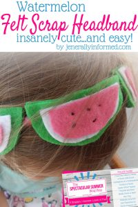 This felt scrap headband is insanely cute…and easy!