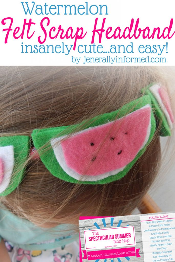 This felt scrap headband is so cute and easy, you won't be able to resist making one for your daughter. It only takes is 30 minutes, and is the perfect summer accessory for young girls!