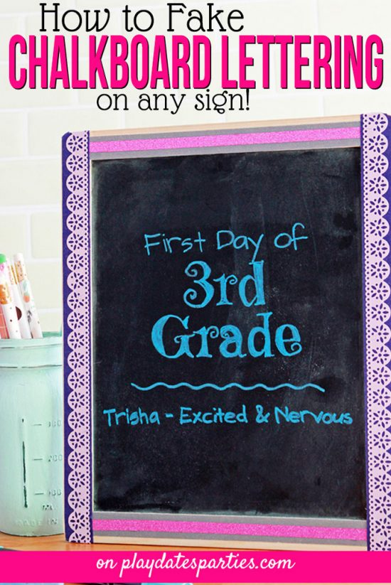 How to Fake Beautiful Chalkboard Lettering on Any Sign