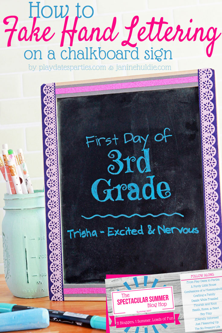 How to Fake Beautiful Hand Lettering on a Chalkboard Sign