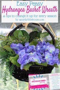 This Hydrangea Beauty is the Perfect Basket Wreath for all Seasons