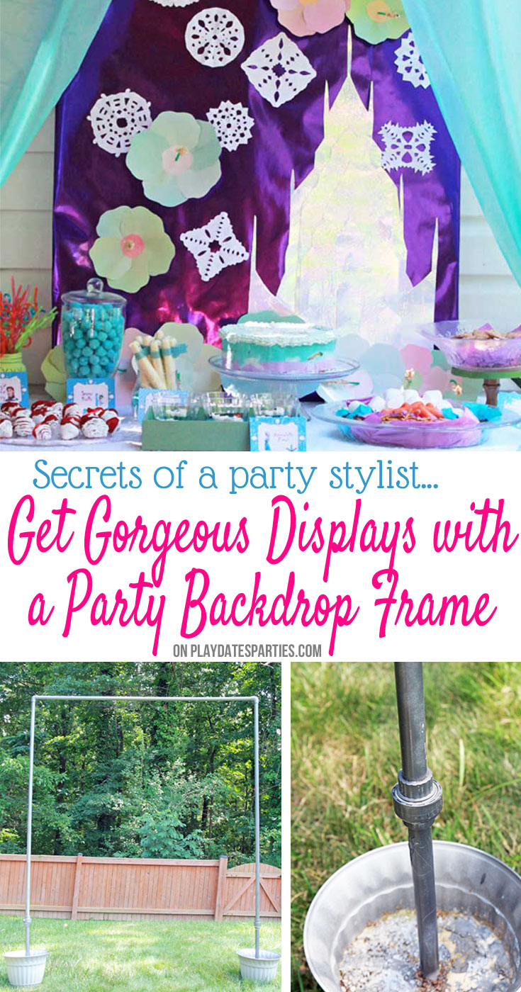Looking for the best party tips? Planners and party stylists know that beautiful backdrops can make all the difference. This DIY backdrop frame that is easy to build, breaks down for storage, and comes back together in just minutes. It's never been easier to take your parties to the next level!