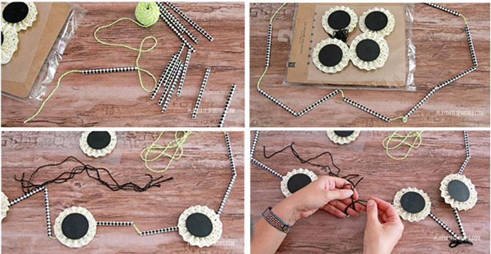 How to make a stash-busting paper straw garland.