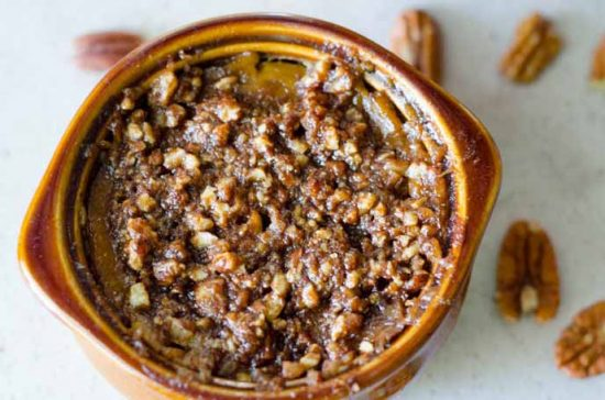 Maple Pumpkin Custard with Pecan Crumble by Paleo Scaleo