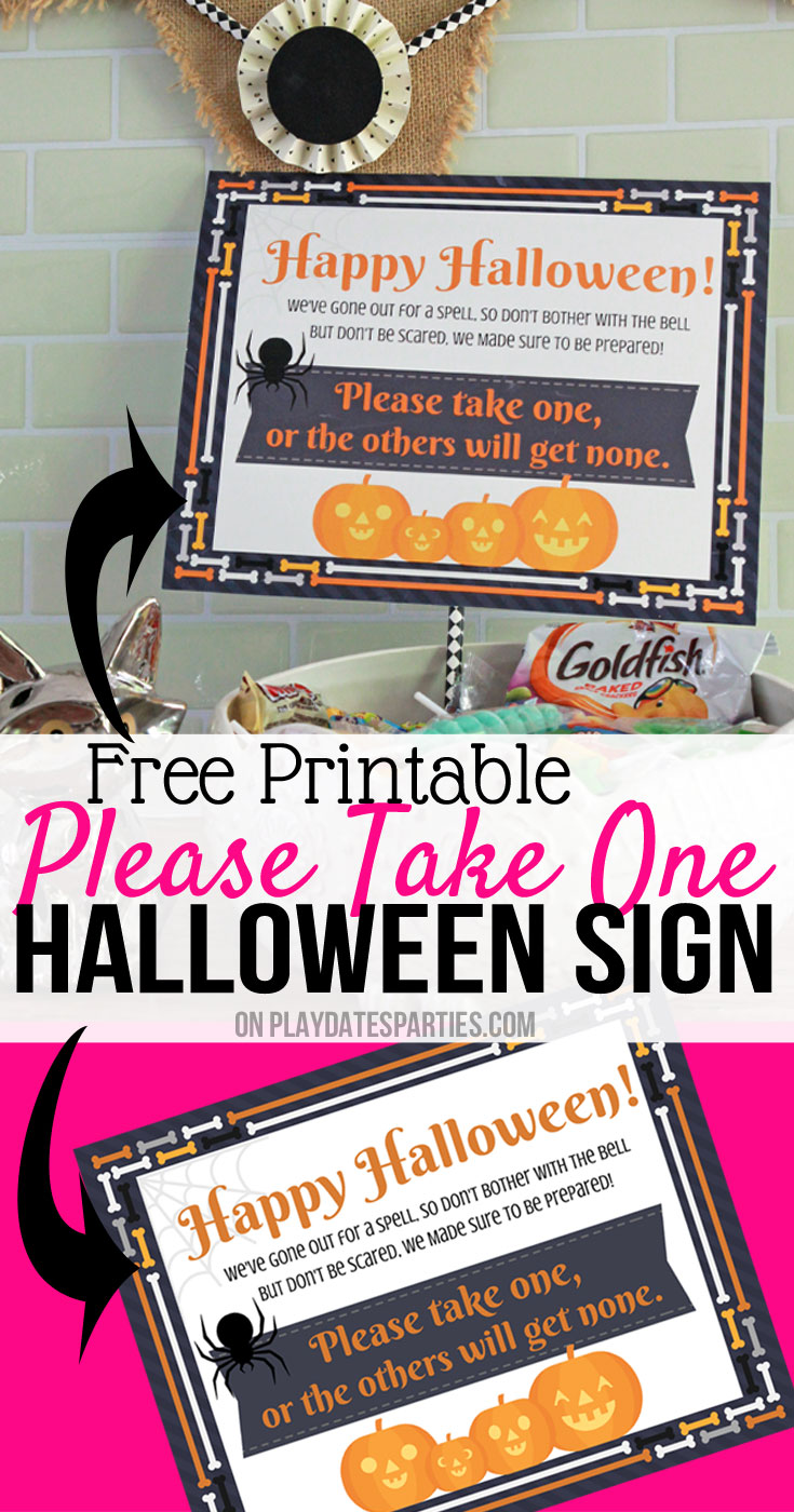 I used to miss out on all the Halloween trick or treat memories just to pass out candy. But then I made this super cute pumpkin Halloween sign printable. I love the clever poem and that now Halloween is filled with memories of the family all together! #halloween #halloweendecorations #printable #HalloweenPrintables #Download #freeprintables #pumpkin
