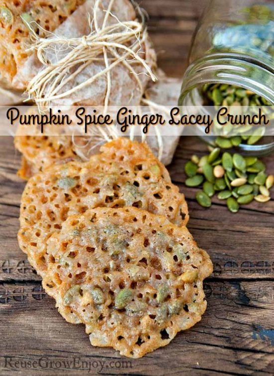 Pumpkin Spice Ginger Lacey Cookies by Reuse Grow Enjoy