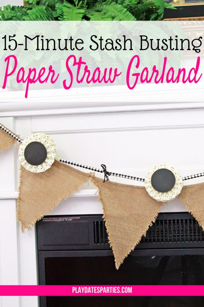 Forget going to the store to decorate. This 15-minute stash-busting paper straw garland is the perfect way to use up leftover party supplies, and will keep you celebrating long after the party is over!