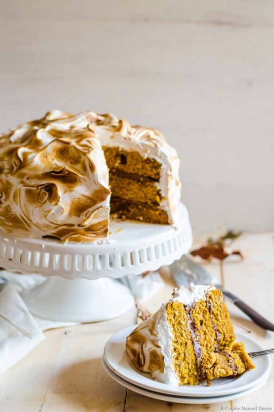 Pumpkin Cake with Ginger Chocolate and Meringue by A Cookie Named Desire