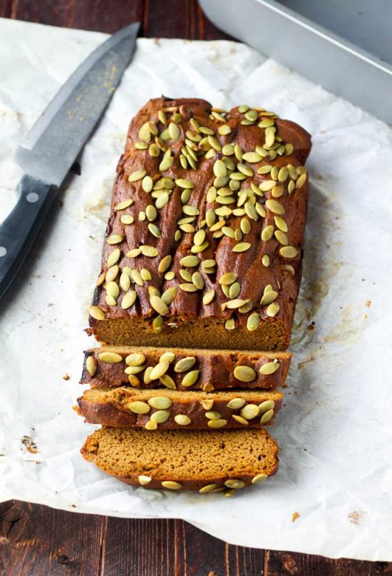 Gluten and Dairy Free Pumpkin Bread by Hungry Hobby