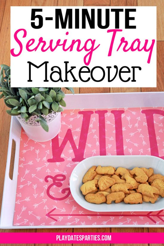 5-Minute DIY Interchangeable Serving Tray Decoration